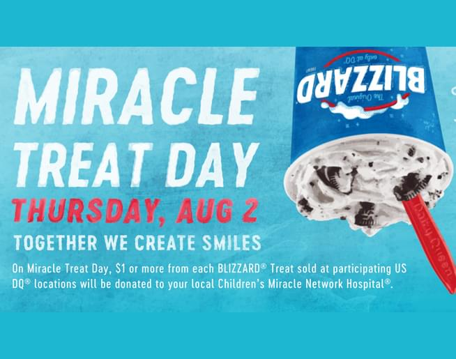 Miracle Treat Day at Dairy Queen – Thursday August 2