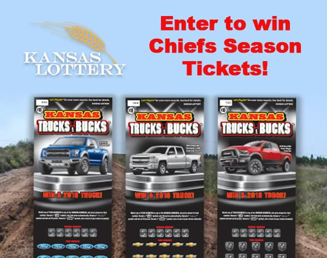 Win Chiefs Season Tickets from the Kansas Lottery