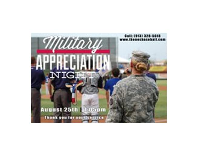 Military Appreciation Night with the T-Bones – August 25