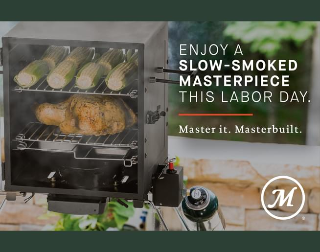 Enter to win a Masterbuilt Smoker for Labor Day!