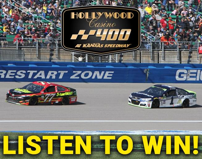 Listen to win tickets to the Hollywood Casino 400 at KS Speedway!