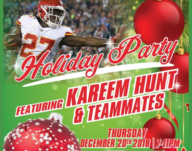 Kareem Hunt Holiday Party!