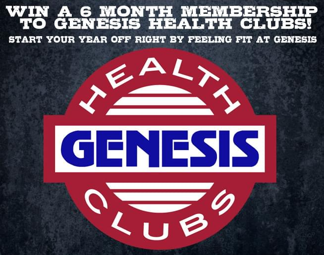Enter to win a 6-month membership to Genesis Health Clubs!