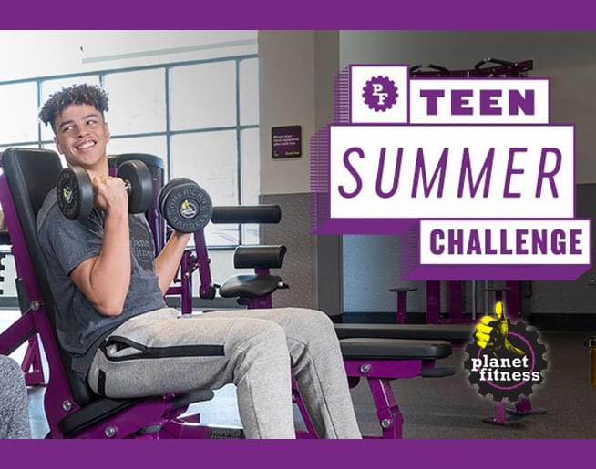 Teens workout for FREE at Planet Fitness this summer!