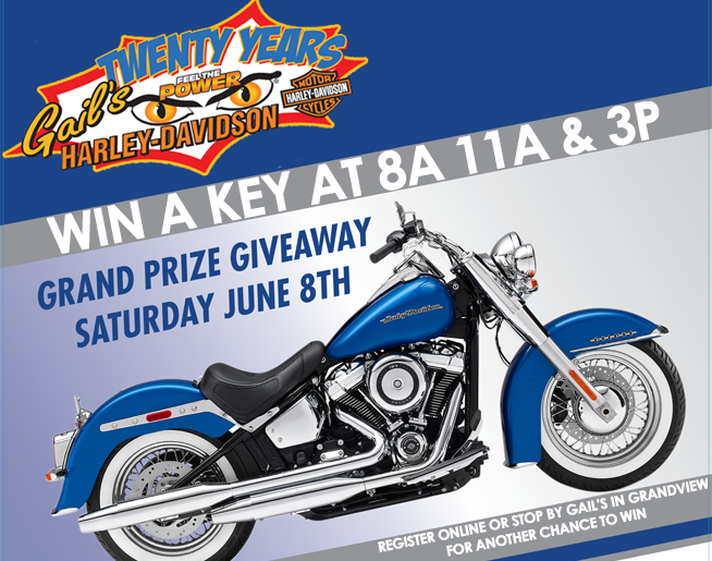 Gail's 20th Harley Giveaway