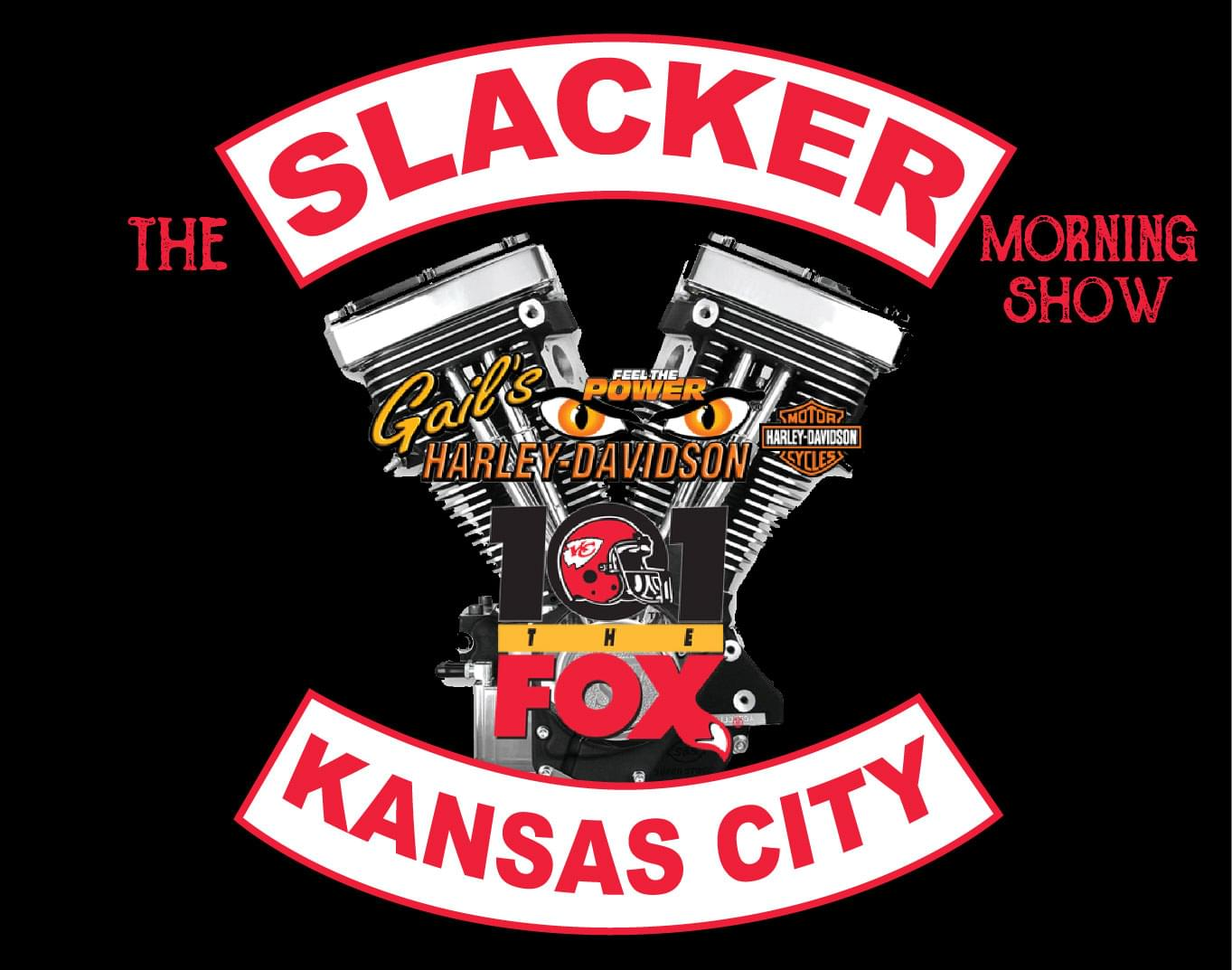LISTEN TO SLACKER every Thursday morning for the RIDE REPORT with Gail from Gail's Harley-Davidson!