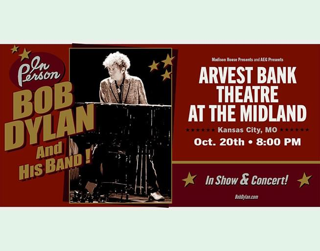 Bob Dylan and His Band – Oct 20th