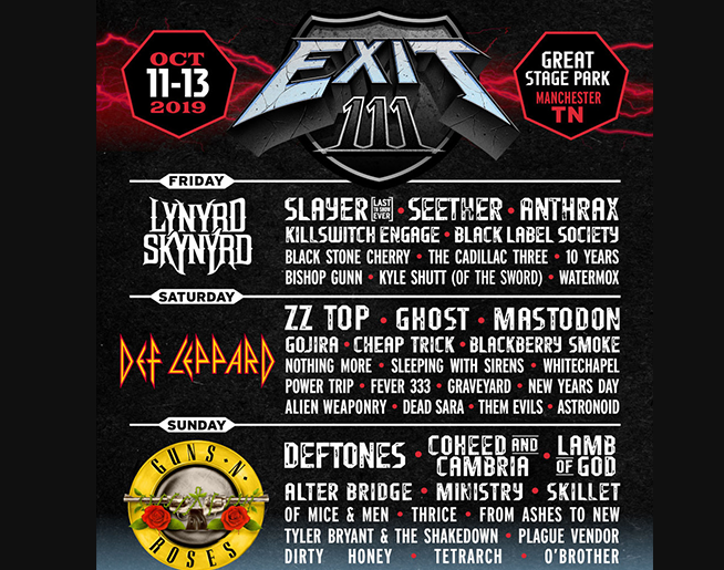 WIN a Camping trip to the Exit 111 Festival – Oct 11th 12th 13th