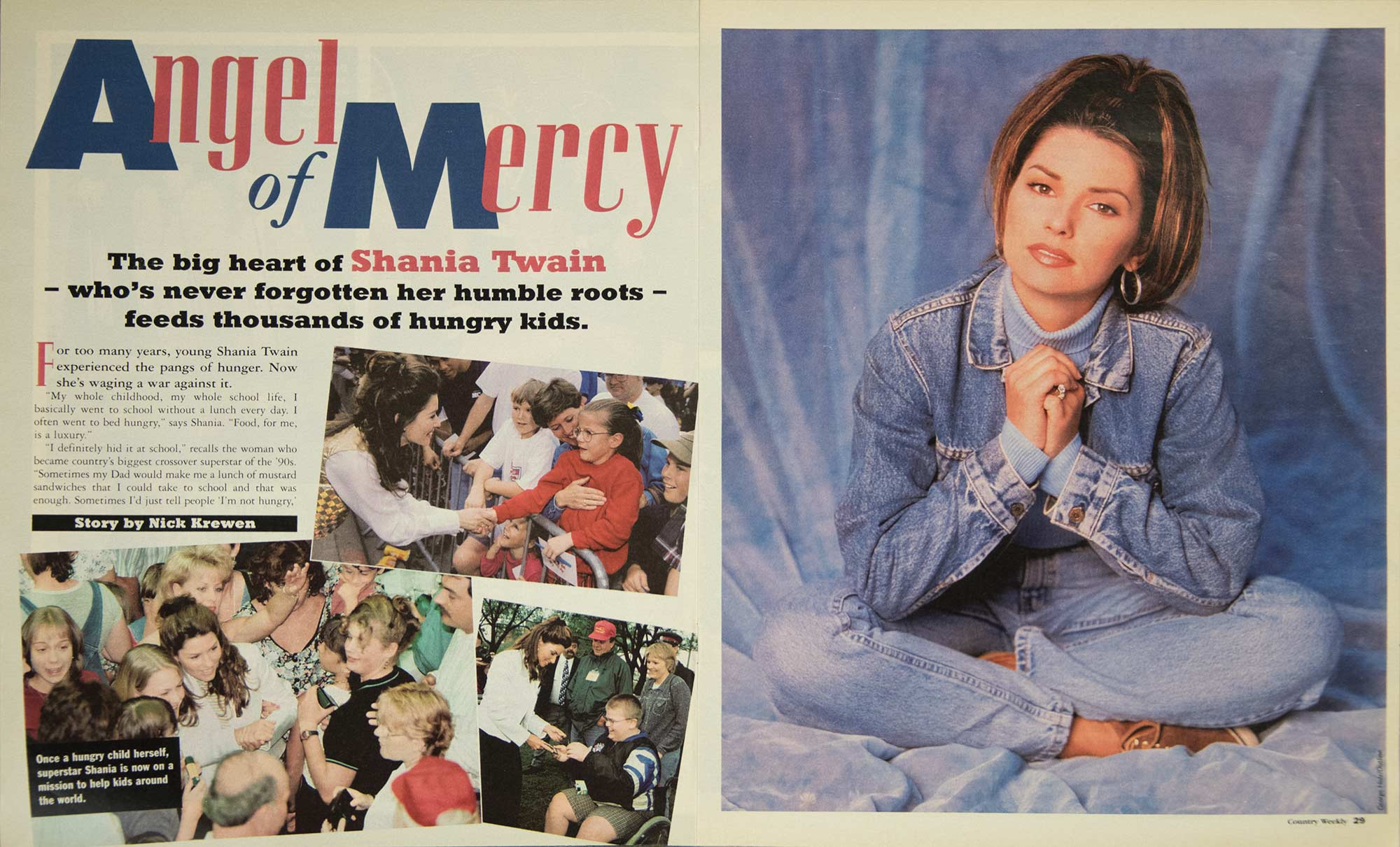 Shania Twain: Angel of Mercy Feeds Thousands of Hungry Kids