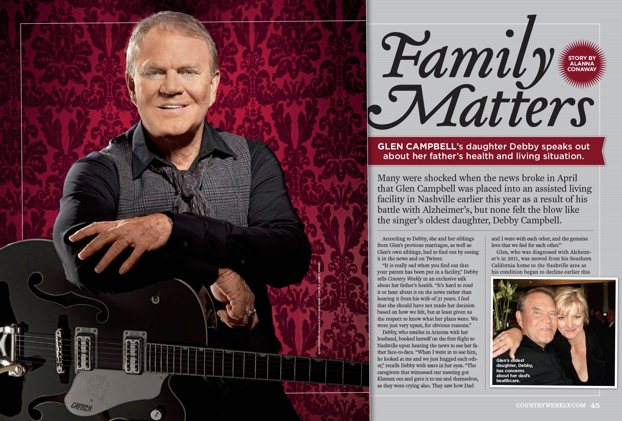 Glen Campbell's Daughter, Debby, Speaks Out About Her Father's Health and Living Situation