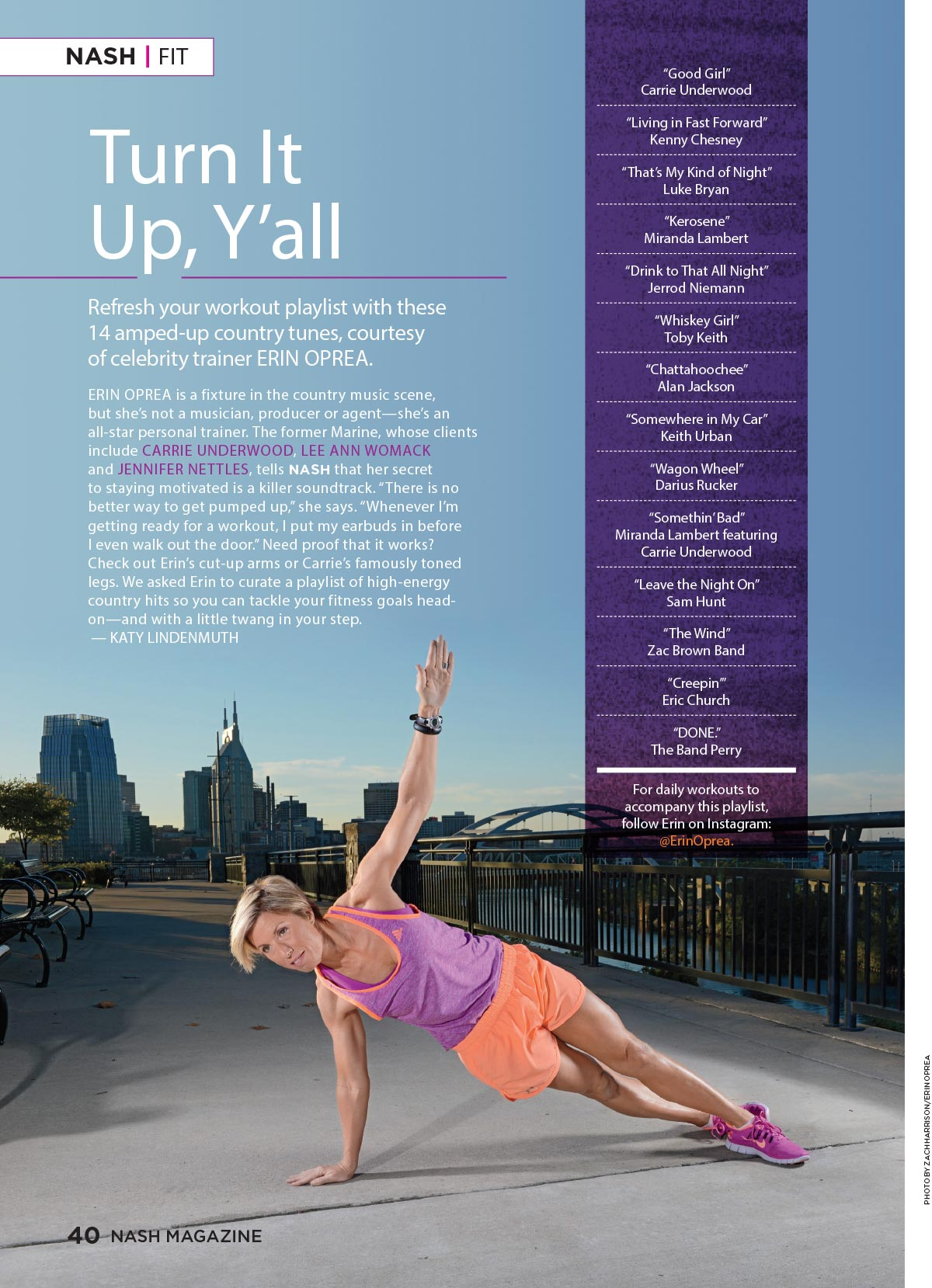 Turn It Up, Y'all: A Country Music Workout Playlist by Celebrity Trainer Erin Oprea