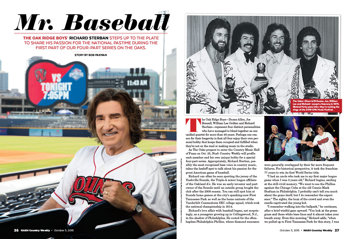 Richard Sterban of the Oak Ridge Boys: Mr. Baseball | Nash Country Daily
