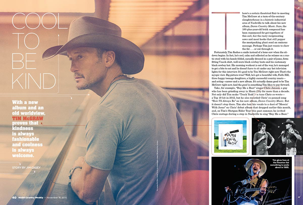 "Tim McGraw Proves That Kindness is Always Fashionable and Coolness is Always Welcome with New Album ""Damn Country Music"""