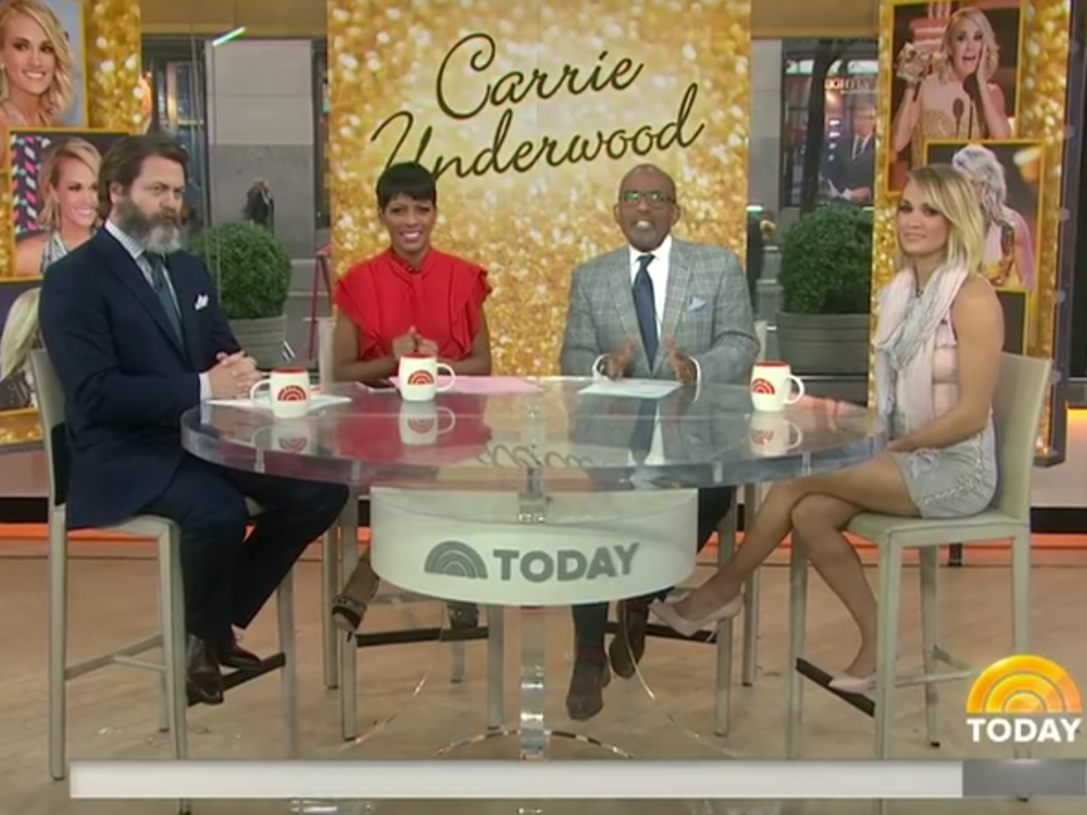 "Watch Carrie Underwood Talk With Ron Swanson About Skydiving, ""The Walking Dead"" & More on the ""Today"" Show"