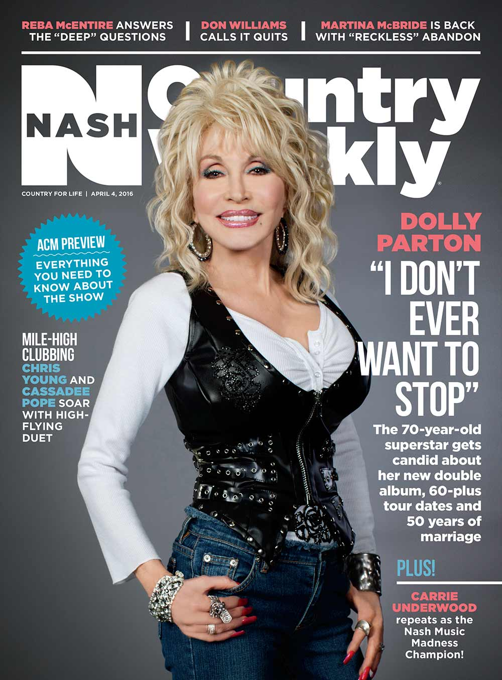 "Country Weekly 2016-04-04 Dolly Parton: ""I Don't Ever Want To Stop"""