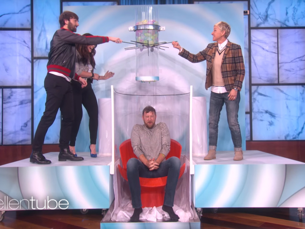"Watch Lady Antebellum's Charles Kelley Get Soaked in ""Oops! My Water Broke"" on ""Ellen"""