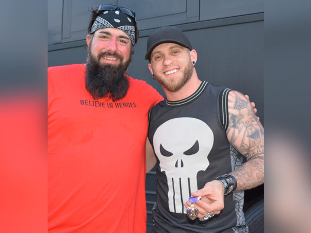 Brantley Gilbert Presented With a Purple Heart, Gives Veteran His CMT Music Awards Tickets