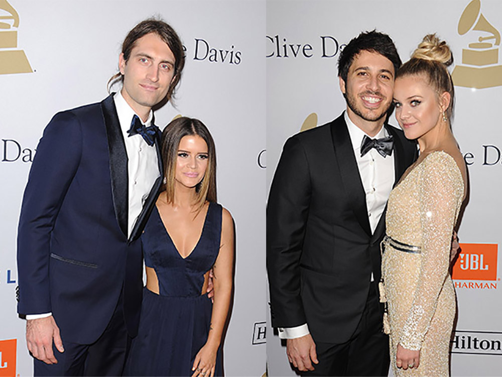 Maren Morris and Kelsea Ballerini Attend Clive Davis' Pre-Grammy Party With Their Signifcant Others