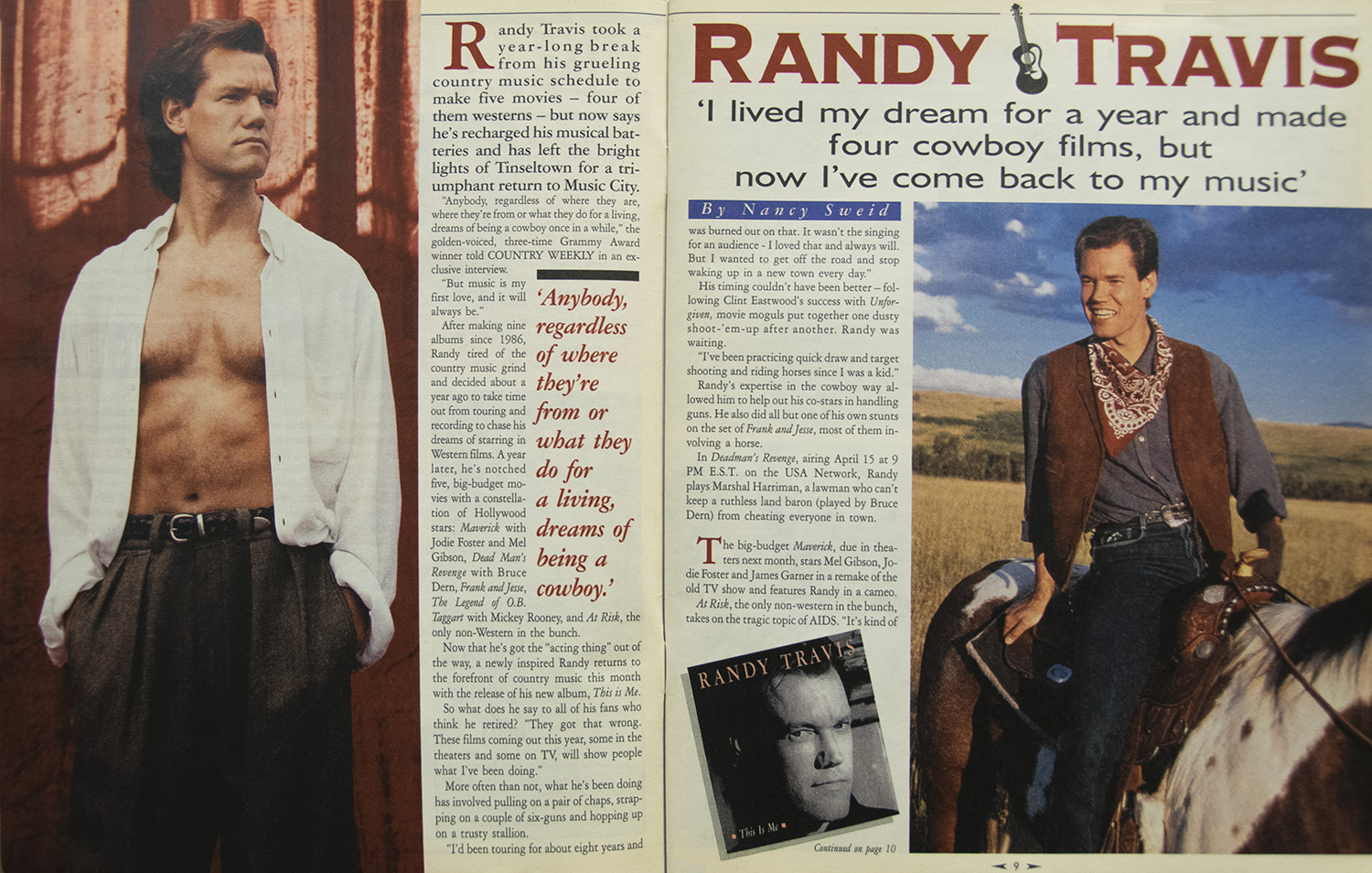 "Randy Travis: ""I Lived My Dream for a Year and Made Four Cowboy Films, But Now I've Come Back to My Music"""