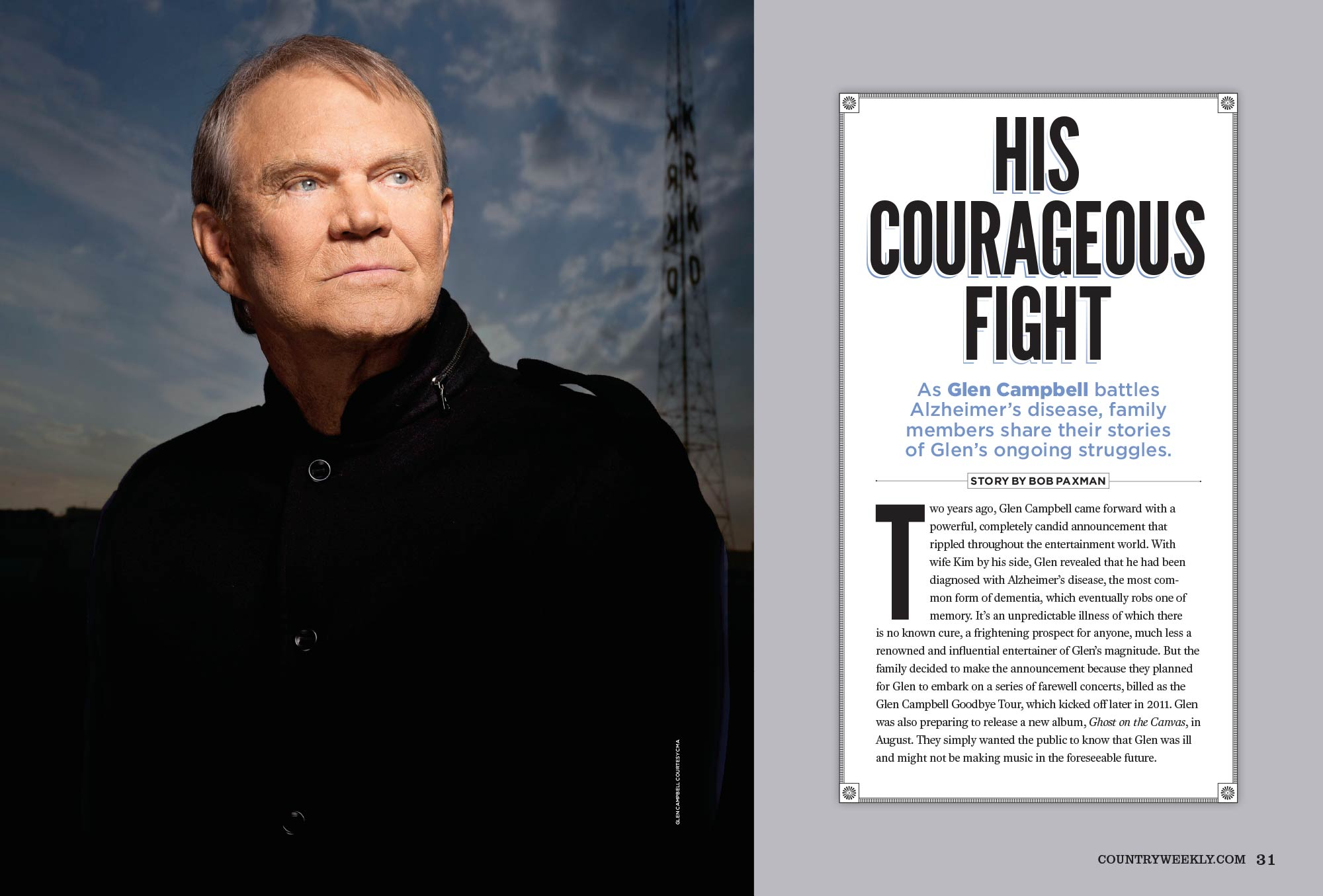 Glen Campbell: His Courageous Fight with Alzheimer's Disease