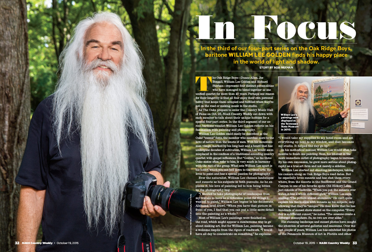 William Lee Golden of the Oak Ridge Boys: In Focus | Nash Country Daily