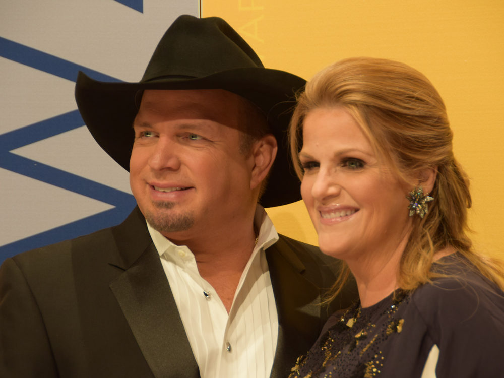 Now Garth Is Hinting That Trisha Yearwood Will Be Singing the National Anthem Before Tonight's Predators Playoff Game