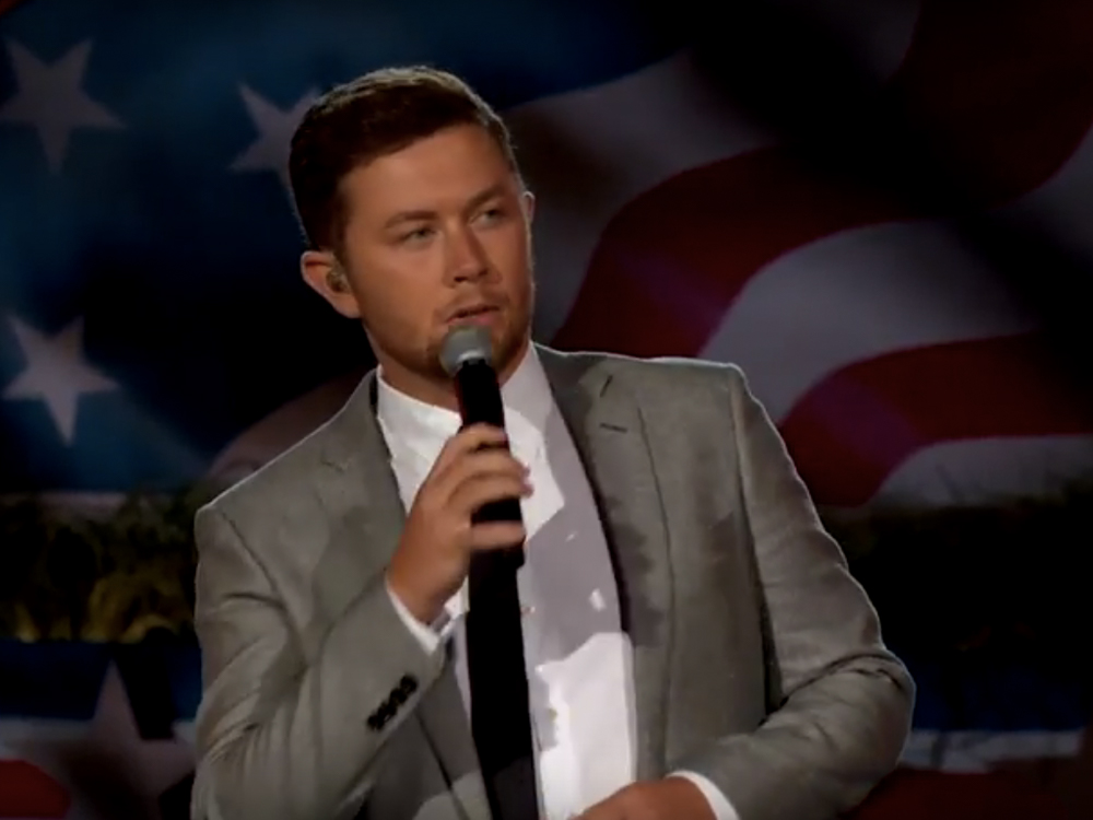 "Watch Scotty McCreery Bring Crowd Members to Tears With Moving Performance of ""The Dash"" at Memorial Day Concert"