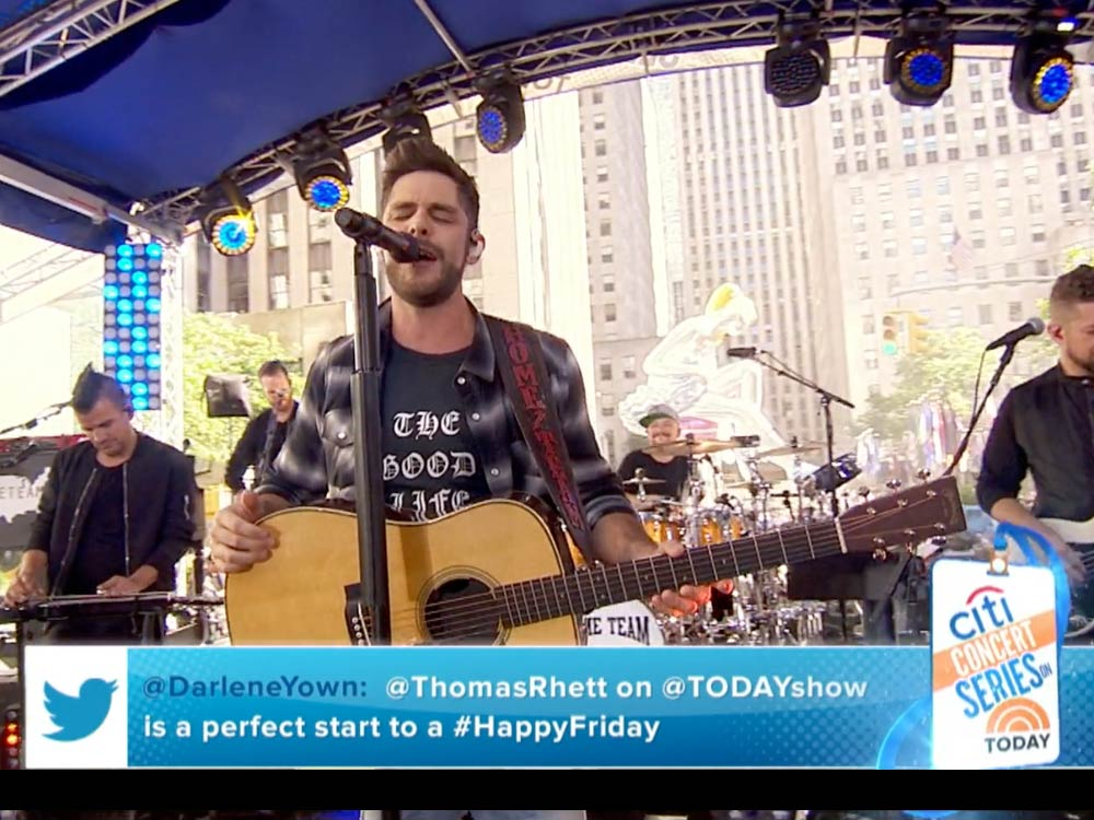 "Watch Thomas Rhett Perform ""Die a Happy Man,"" ""Craving You"" & ""Star of the Show"" on ""Today"" + Backstage Footage"