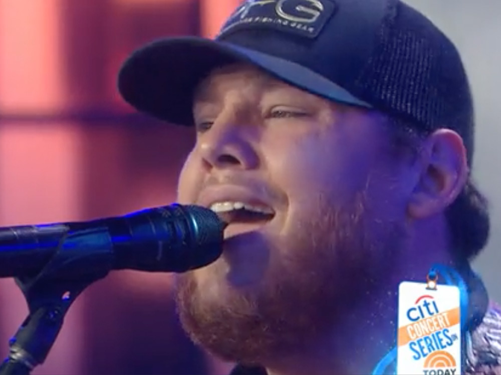 "Watch Luke Combs Perform His No. 1 Hit, ""Hurricane,"" & New Single, ""When It Rains It Pours,"" on ""Today"""