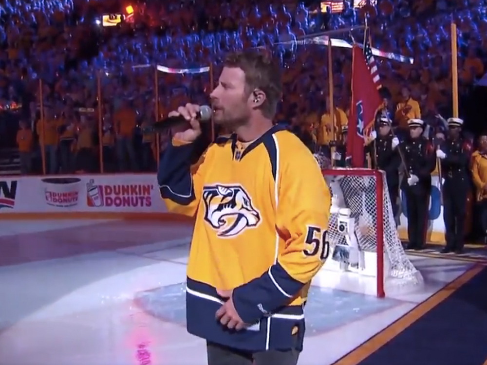 Watch Dierks Bentley Sing the National Anthem Before Game 4 of the Stanley Cup Final