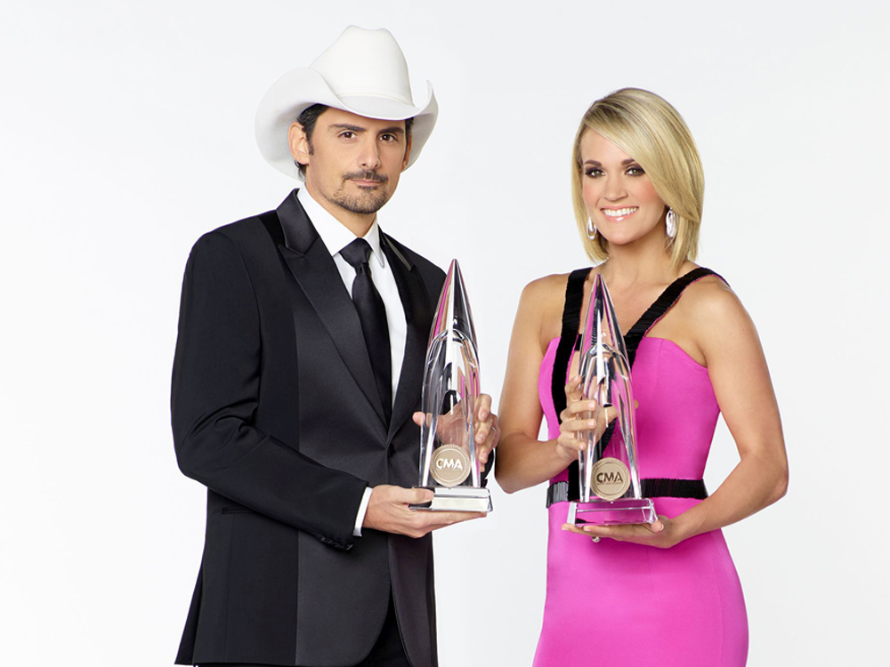 Carrie Underwood and Brad Paisley to Return as Co-Hosts of the CMA Awards for 10th Year