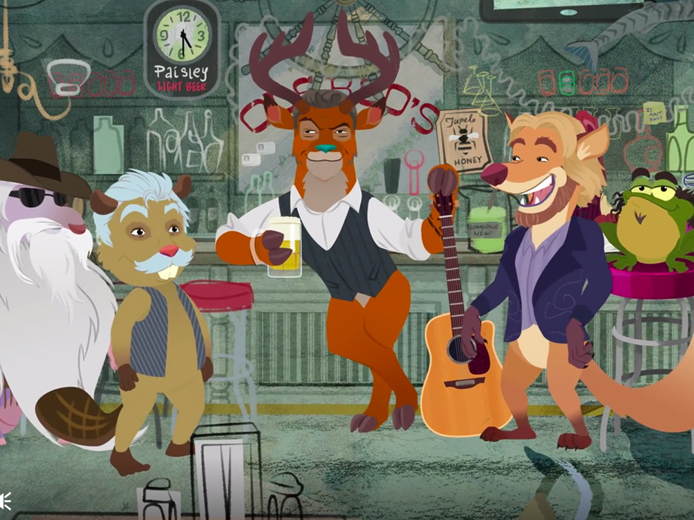 "Watch Blake Shelton and the Oak Ridge Boys Get Animal Animated in New ""Doing It to Country Songs"" Video"