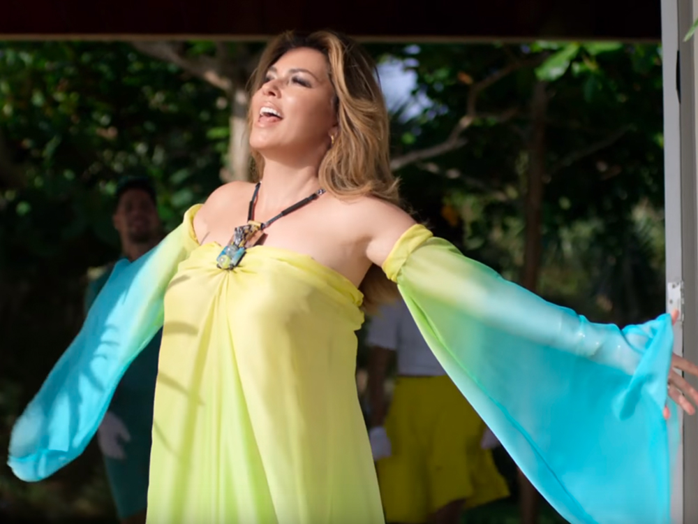 """Watch Shania Twain Take a Dig at Her Ex in Sunny New Video, """"Life's About to Get Good"""""""