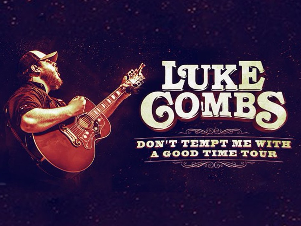 """Luke Combs Extends """"Don't Temp Me With a Good Time Tour"""" Into 2018"""