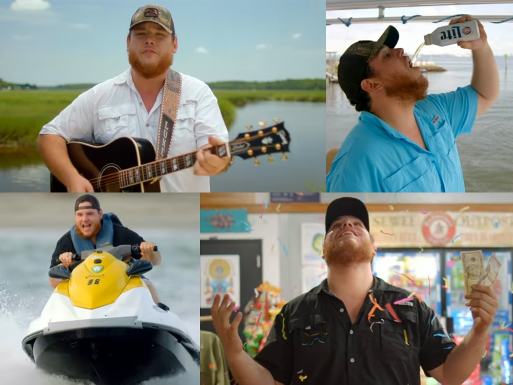 "Watch Luke Combs' Sunny New Video for ""When It Rains It Pours"""