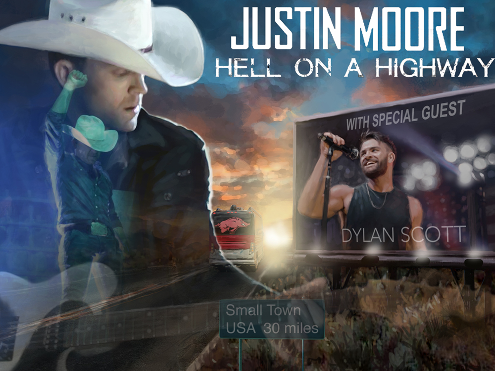 Justin Moore Hell On A Highway Tour Kiim Fm