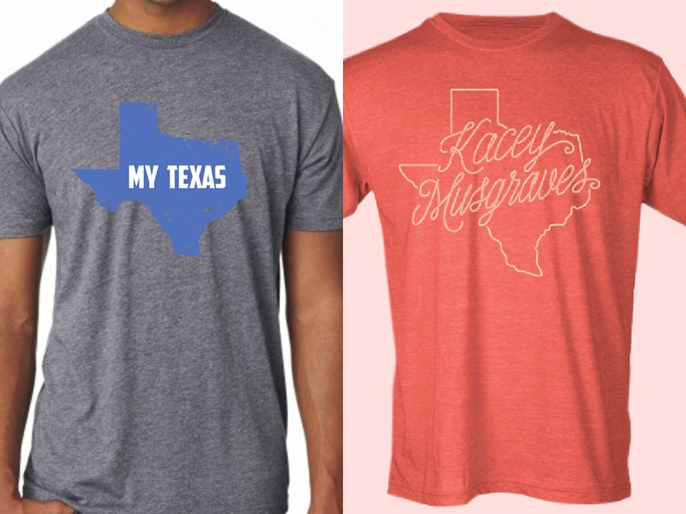 Native texans kacey musgraves and josh abbott are selling for Shirts to raise money