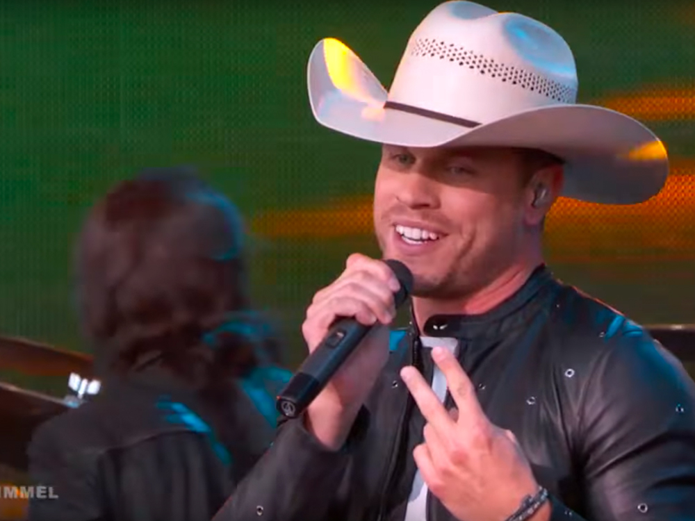 "Watch Dustin Lynch Perform New Song, ""I'd Be Jealous Too,"" on ""Jimmy Kimmel Live"""