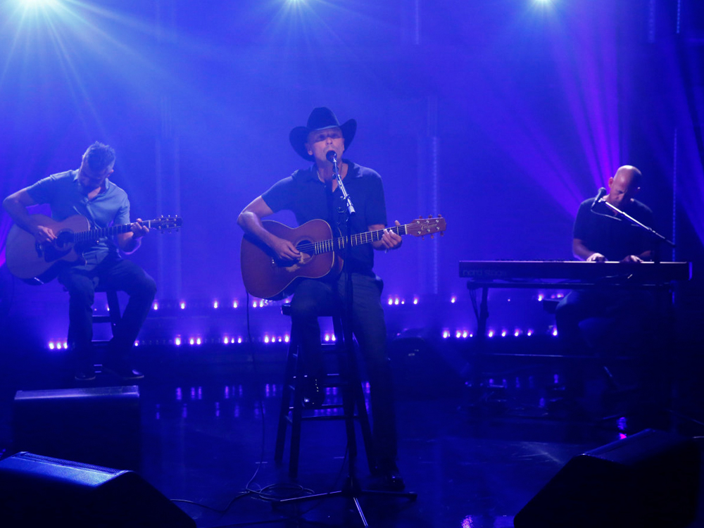 "Watch Kenny Chesney Perform New Song, ""Jesus and Elvis,"" on ""Late Night"""