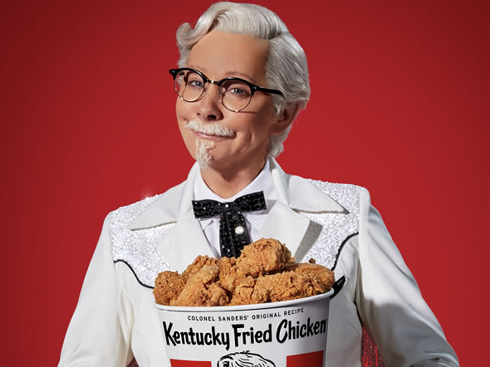 Watch Reba McEntire Play Colonel Sanders in New Kentucky Fried Chicken Ad
