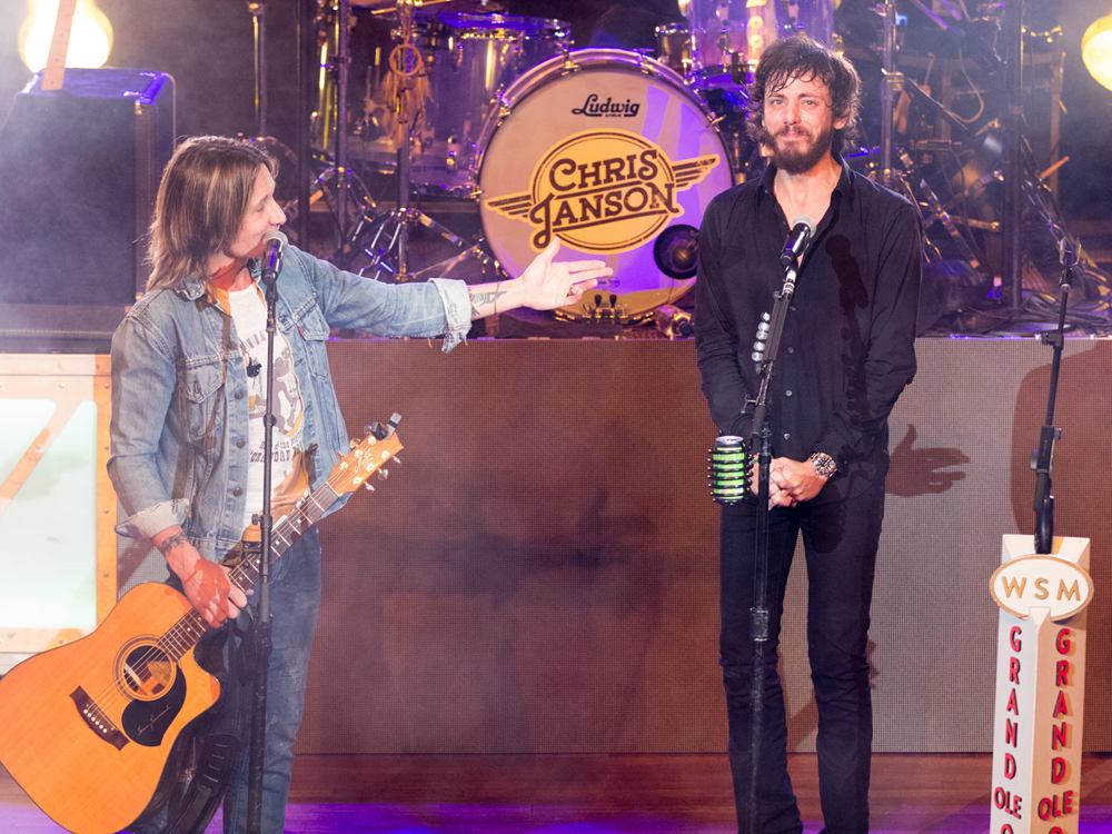 Watch Keith Urban Surprise Chris Janson With an Invitation to Join the Grand Ole Opry