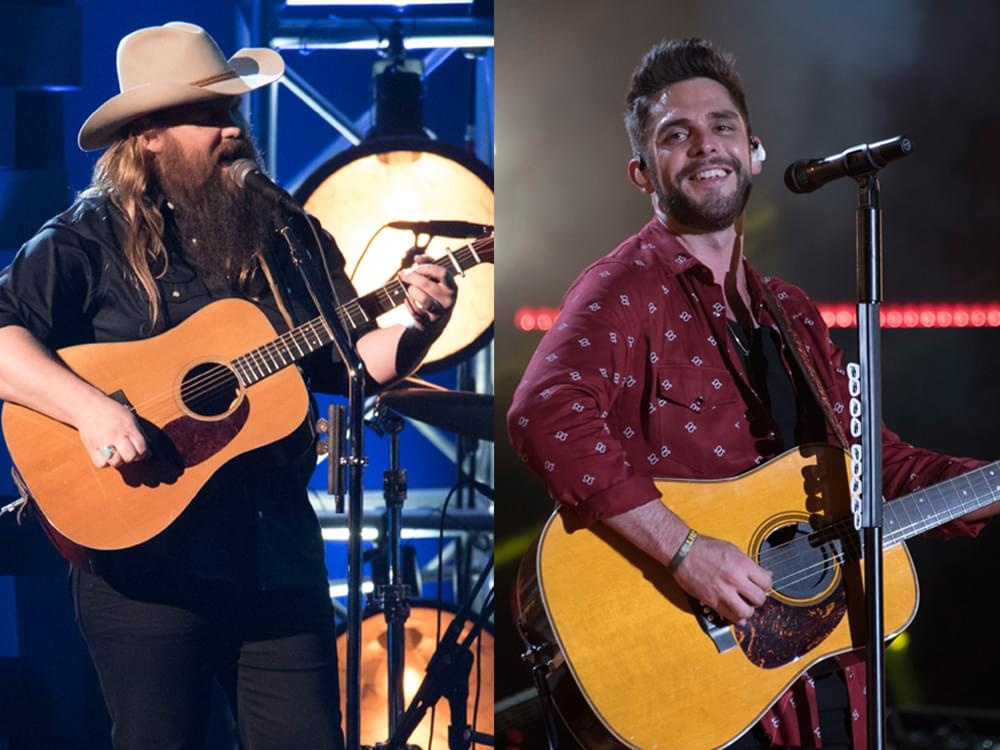 Chris Stapleton (8), Thomas Rhett (6), Keith Urban (5), Miranda Lambert (4), Maren Morris (4) & More Earn Multiple ACM Awards Nominations