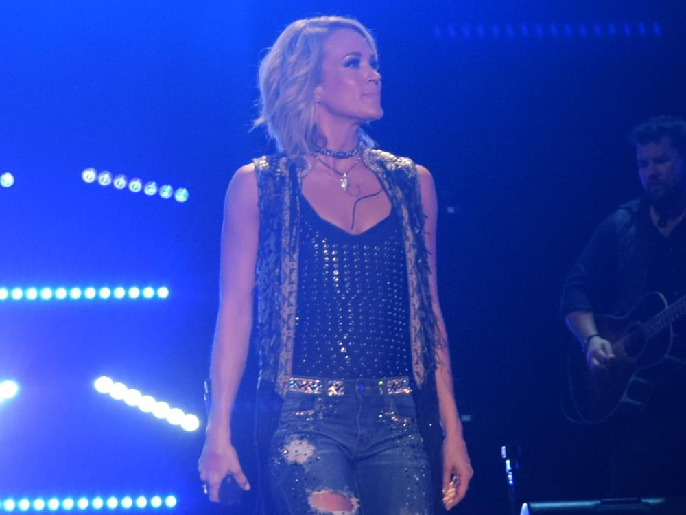 Watch Carrie Underwood Sing the National Anthem Before Game 2 of the Nashville Predators 2nd Round Playoff Series