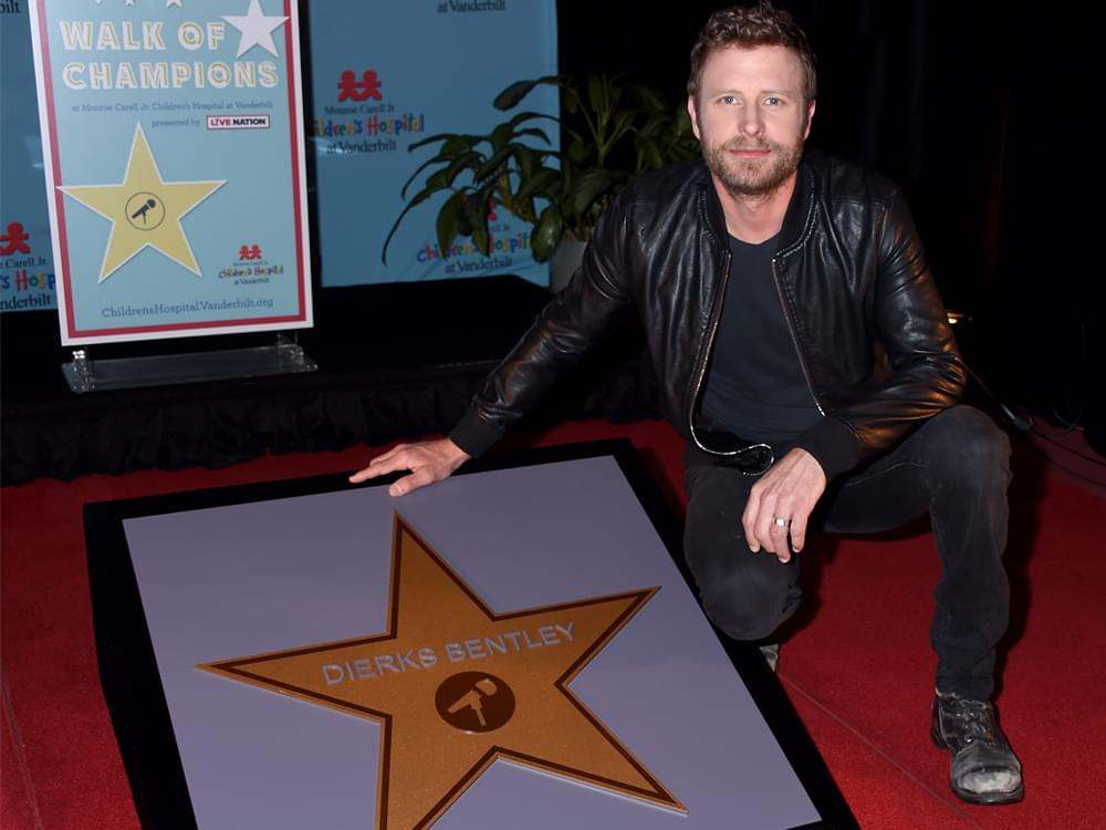 "Dierks Bentley Honored With First Star on Vanderbilt Children's Hospital ""Walk of Champions"""