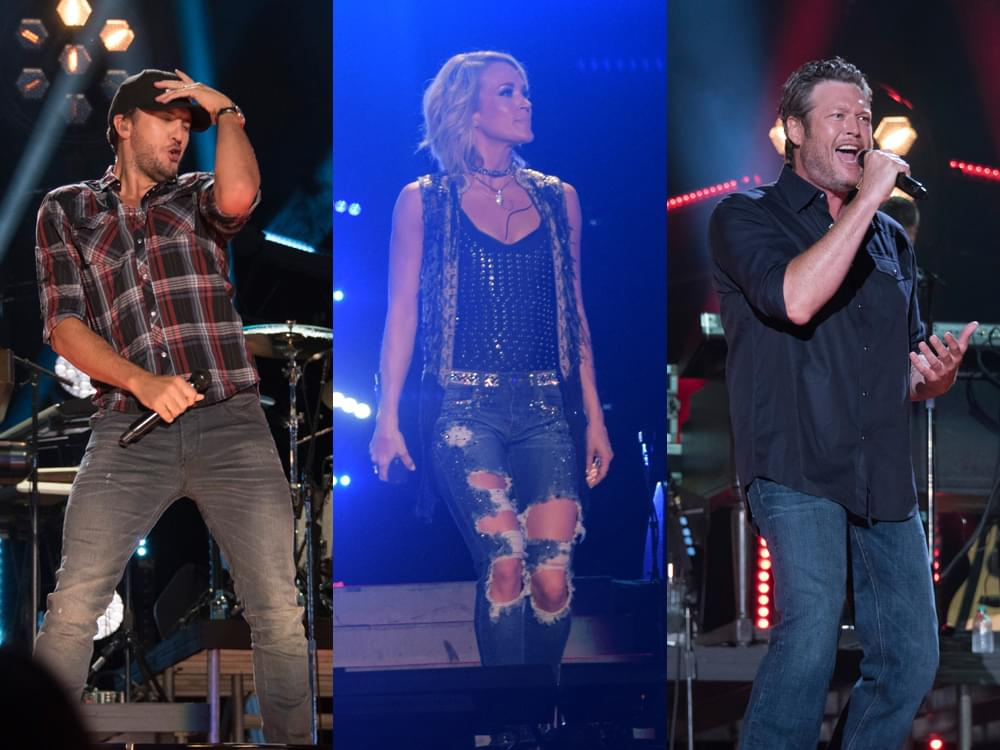 Blake Shelton, Carrie Underwood, Luke Bryan & More Earn Nominations at CMT Music Awards [Full List]