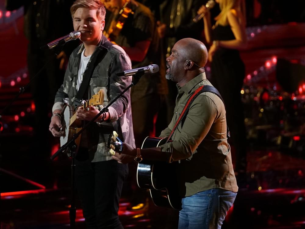 "Watch Darius Rucker Sing ""Wagon Wheel"" on ""American Idol"" With Finalist Caleb Lee Hutchinson"