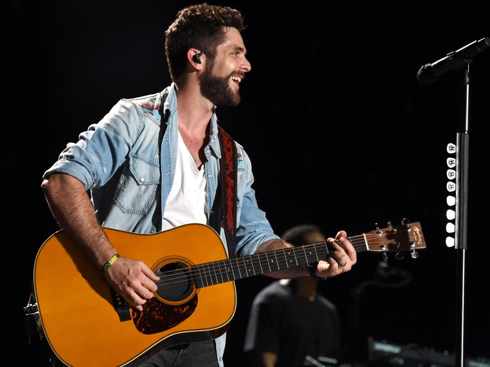 "Thomas Rhett Says the Message Behind Top 5 Hit, ""Sixteen,"" Is to ""Be Content and Enjoy Your Life"""