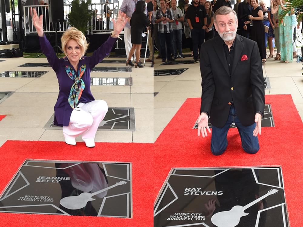 ray stevens jeannie seely brenda lee ben folds inducted into music city walk - Ray Stevens Christmas Songs