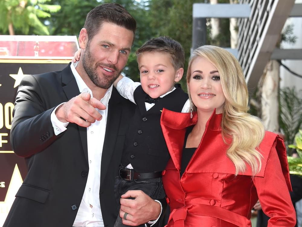 Carrie Underwood & Family Celebrate Getting Her Star on the Hollywood Walk of Fame [Photo Gallery]