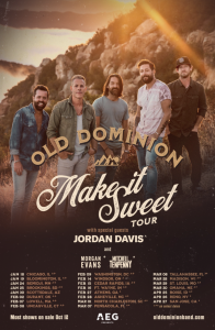 "Old Dominion Announces Headlining Tour and Drops New Single, ""Make"